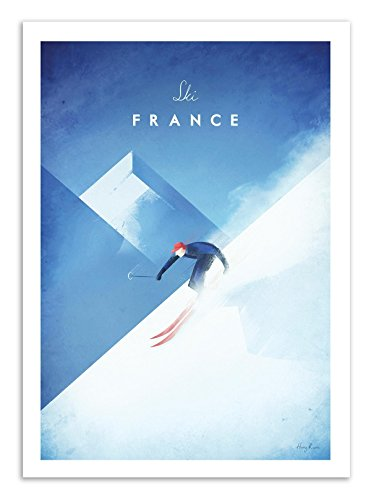 Art-Poster - Ski France - Henry Rivers - 50 x 70 cm