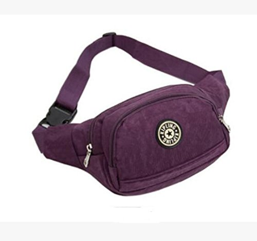ZYT Hohe Kapazität Pocket Tasche Sport Tasche Herren Nylon Rucksäcke Purple