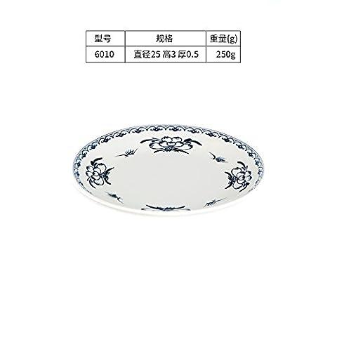 Tlue Tathtub Peach-Shaped Mantou Flat Plate Lace Rice Dish Plate Plastic Melamine Tableware Bone Plate Cold Noodle,Six Thousand And Ten