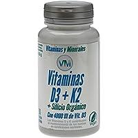 Vitamina D3, Vitamina K2 - Silicio Orgánico - 90 Cápsulas