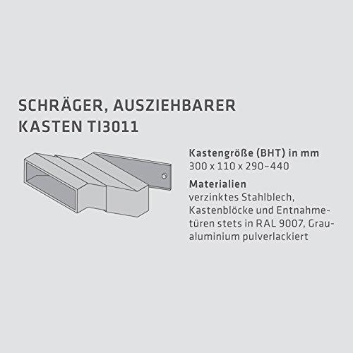 Max Knobloch Edelstahl Mauerdurchwurf-Briefkastenanlage MD20-OR-E (2 x 12 Liter) - 4