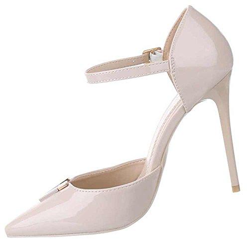 Schuhcity24 Damen-Schuhe Pumps  Frauen High Heels mit 11 cm Stiletto-Absatz und Riemchen in Verschiedenen Farben...