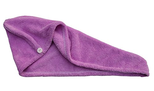 Hope Shine Microfiber Ultra Absorbent Large Hair Turban Wrap Towel Fast Drying (Purple)