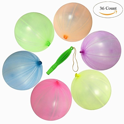"GuassLee 36 STÜCKE Punching Ball Luftballons 12 ""Runde Punch Balls Pure Latex Ballon für Partydekorationen und Kinder Party Favors Sortierte Neon Farben"