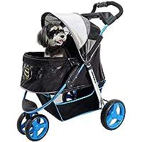Aoligei Carrito para Mascotas Pet Stroller Carro Perro Plegable Gato Coche Pet Supplies