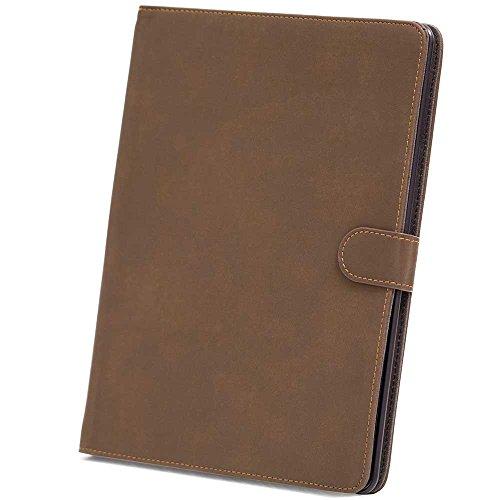HSRpro Matt Hülle für Apple iPad 2 - iPad 3 - iPad 4 - Tasche Cover Case Etui Schutzhülle mit Inner Schale und Guten Haltegefühlen in Dunkelbraun (Bookbook Ipad 3)
