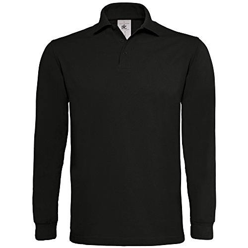 B&C Collection Heavymill long sleeve Black