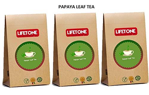 Lifetone the tea for better life Pure Papaya Leaf Tee, das Immunsystem Booster, Detox Wirkstoff, 60 Teebeutel