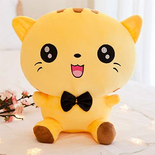 DWSM Plüschtier Ragdoll Kinderkissen Gelb Rundes Auge Großes Gesicht Katze Puppe Kreatives Geschenk 22Cm