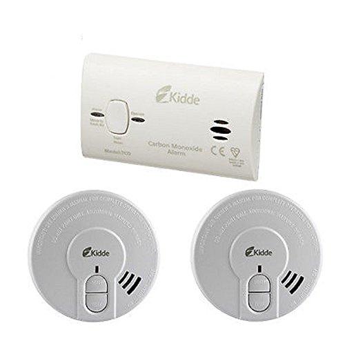 Kidde co3sa Premium Alarm Sicherheit Pack–1Kohlenmonoxid und 2x Rauchmelder–alle...