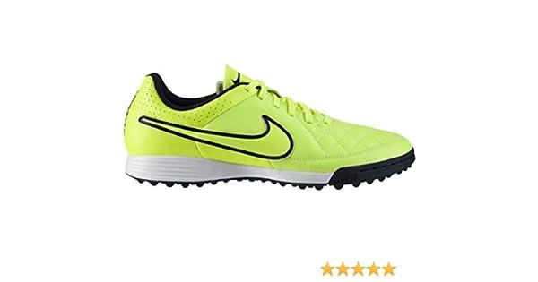 buy online b6575 9e5aa Nike Tiempo Genio Leather TF Hallen Fussballschuhe volt-volt-hyper punch- black- 42: Amazon.co.uk: Shoes & Bags