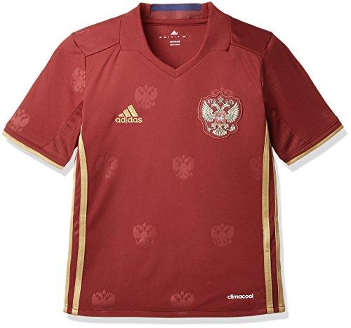 adidas Jungen T-Shirt RFU H Jersey Y Kurzarm Heimtrikot, Collegiate Burgundy/Dark Football Gold, 140 - Kurzarm Torwart Trikot