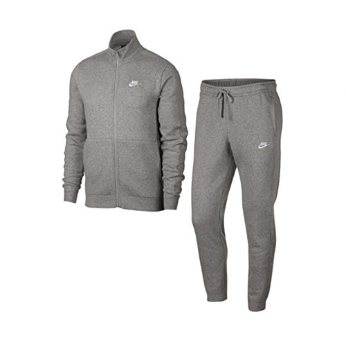 Nike Herren M NSW CE FLC Tracksuit, dk Grey Heather/White, M