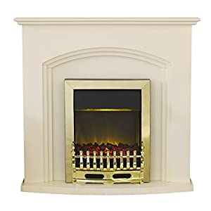 Adam Truro Fireplace Suite with Blenheim Electric Fire, 2000 Watt, Ivory