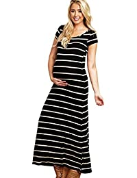 Cinnamou Vestido largo maternidad de las mujeres,Cómodo vestido sin mangas Vestido de Mujeres Embarazadas