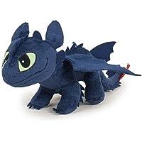 Como entrenar a tu Dragon (HTTYD) - Peluche calidad Desdentado Toothless Furia Nocturna Negro