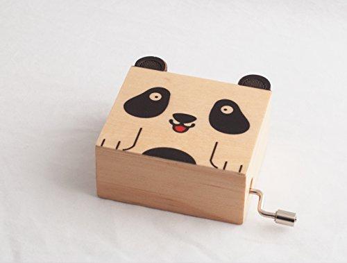 """Spieluhrenwelt MMM GmbH, 857712 Spieluhr Drehleier Panda, das ideale Gastgeschenk bei Kindergeburtstage statt Sáigkeiten oder zwischendurch als Mitbringsel, šberaschung, Aufmerksamkeit, Dankesch""""n?."""