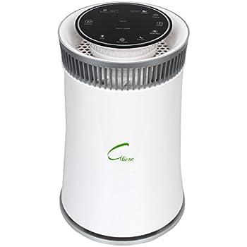 Gliese Magic - 24 Watt Room Air Purifier with HEPA Filter & PM 2.5 meter (Classic White)