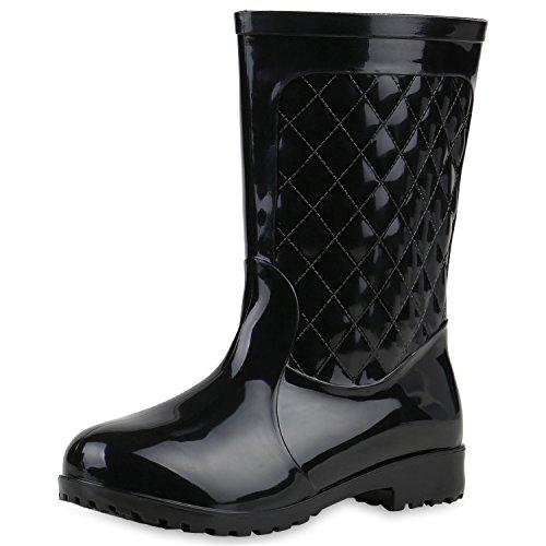 Japado - Stivali di gomma Donna , nero (nero), 37