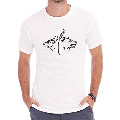 Bull Cow Animals Farm Bear Herren T-Shirt Weiß
