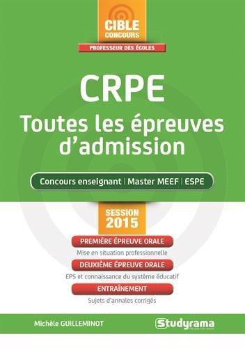 CRPE, toutes les épreuves d'admission : Concours 2015