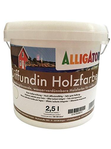 Alligator Diffundin Holzfarbe seidenglänzend 2,5 L (weiß)