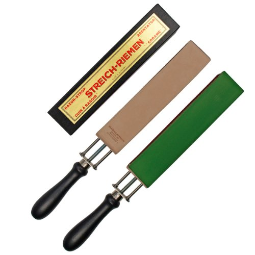 Schraub - Spannriemen 190x40 mm zum nachschärfen von Rasiermessern - höchste Qualität Made in Solingen