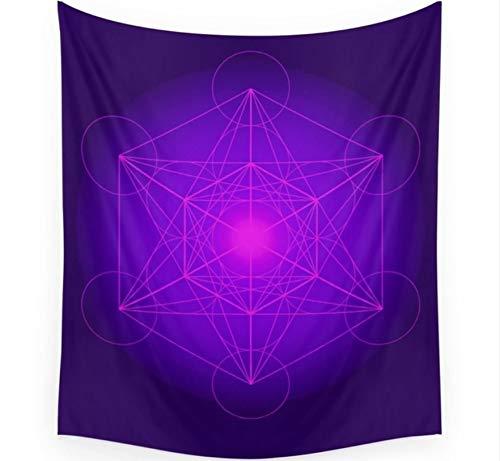 LMXYF Arazzo | Cubo | Geometria segreta | Platonico | Matrix | Protegge Il Pendente da Parete per Soggiorno