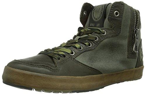 REPLAY Fluid, Sneaker alta Uomo, Verde (Grün (KAKI KAKI 2041)), 45 (11 uk)
