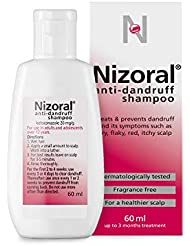 Nizoral Anti-dandruff Shampoo, Treats and Prevents Dandruff, Suitable for Dry Flaky and Itchy Scalp - 60ml