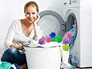 20 PCS Reusable PVC Laundry Ball Clothes Care and Washing Ball Household Washing Machine Cleaning Ball Rubbing