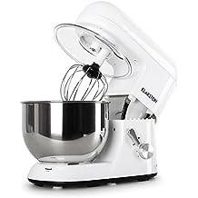 Klarstein Bella Bianca Robot da cucina (1200 Watt, recipiente acciaio inox 5,2l, 6 velocità) - bianco - Pane Lievito Per Dolci