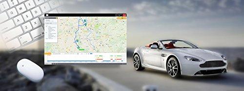 Logpit Fahrtenbuch und Diagnose OBD2 Stecker Inkl. SIM Karte und EU Flat - sofort startklar - echtzeit Flottenmanagement GPS Tracker mit Deutscher Software und App. Finanzamtkonform