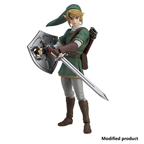 Siyushop Figura De Acción De The Legend of Zelda Twilight Princess Link (Versión Deluxe) - Incluyendo Múltiples Expresiones - Alto 5.9 Pulgadas