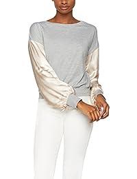 FIND Haut Sweat-Shirt Manches Longues en Satin Femme
