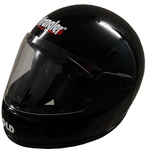 Wrangler WRR_002 Gold Full Face Helmet (Black)