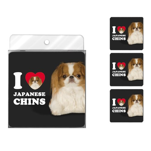 tree-free-greetings-nc39072-i-heart-japanese-chins-4-pack-artful-coaster-set