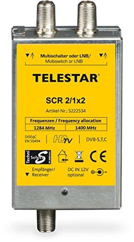 Telestar 5222534 SCR 2/1x2 Einkabellösung (Twin/2 Single Receiver auf 1 Leitung) silber