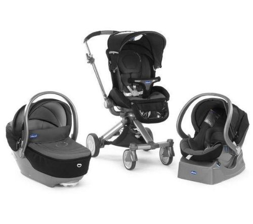 Chicco passeggino trio i-move top black .