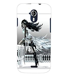 ColourCraft Girl with Attitude Design Back Case Cover for MICROMAX CANVAS MAGNUS A117