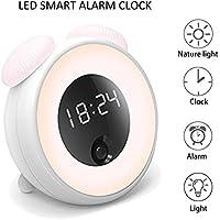 ZOOVQI LED Lichtwecker Wake-Up Light Wecker Alarm Clock mit Körpererkennung Snooze Funktion Augenschonendes Licht... preisvergleich bei billige-tabletten.eu