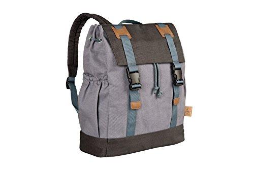 Preisvergleich Produktbild Lässig Vintage Little One und Me groß Backpack Wickelrucksack/Wickeltasche inkl. Wickelzubehör, grey