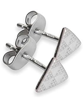 Edelstahl Stecker / Ohrring Paar Pintaderas Dreiecke