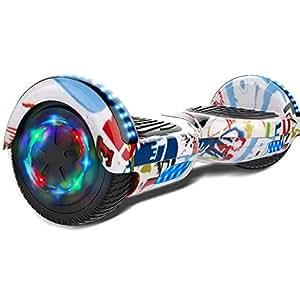 """Double Hunter Hoverboard 6.5"""" con LED Luce, Self Balance Scooter Elettrico,Balance Board Elettrico, Motore 2 * 350W, Certificazione UL"""