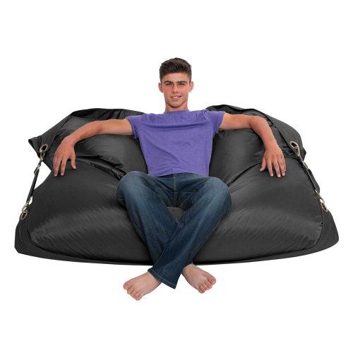 Bazaar Bag Großer Sitzsack mit Gurten, Schwarz (für Innen- und Außenbereich) - 4