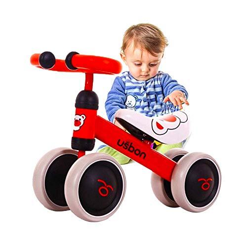 Arkmiido bicicletta per bambini 1-3 anni, Bicicletta Equilibrio Bambino, triciclo Senza Pedali, prima bici Colore Rosso