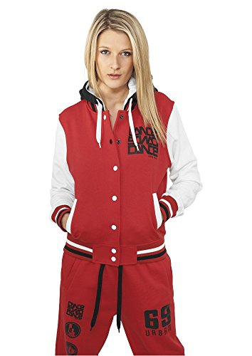 Urban Classics Zip Jacke College Dance, Color:red/wht/bk;Größe:M