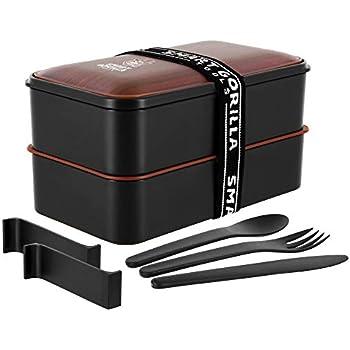 Cadrim Bento Box Lunchbox mit Band Brotdose BPA Frei Luftdicht Auslaufsicher 2 Unterteilungen 1L f/ür Erwachsene /& Kinder Sp/ülmaschinen /& Mikrowellenfest