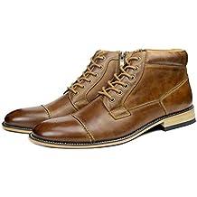 W TT Zapatos De Hombre Botas De Cuero Formales Botas De Martin Moda Zapatos  0da123c7c3f4