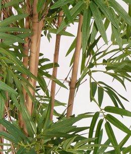 Bambus, mit UV Schutz, 2400 Blätter, Höhe ca. 180cm Kunstbaum künstlicher Bambusbaum